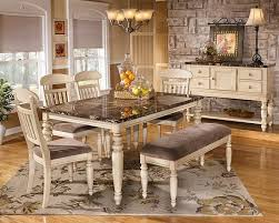 Kitchen Dining Furniture Ideas  Beautiful Kitchen And Dining - Ashley furniture white dining table set