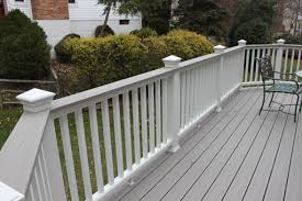 exterior design charming trex decking cost with white railing and