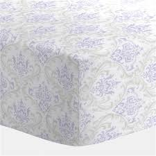 Lilac Damask Crib Bedding Lilac And Silver Gray Damask Crib Sheet Carousel Designs