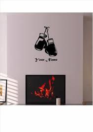 sport en chambre x gants de boxe ne importe quel nom sport vinyle wall sticker