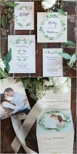 wedding invitations san antonio foliage wedding invitation greenery leafy garden invitations