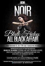 partyfess in miami hallandale all black affair at