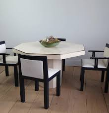 octagonal travertine italian dining table 3 furniture