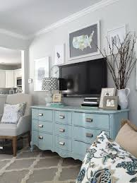 love this dresser in the living room for storage in willows