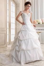robe de mariã e classique robe de mariée classique col en coeur bouffante traîne taffetas