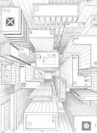 directly overhead birds eye view perspective drawing 6th grade