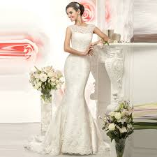 aliexpress com buy scoop lace mermaid wedding dresses 2017