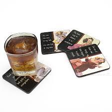 vintage vixen drink coasters set of 4