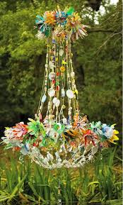 Repurposing Old Chandeliers Dishfunctional Designs The Upcycled Chandelier