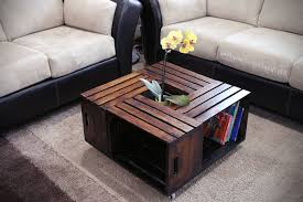 wooden crates desk made out of wood crate coffee table
