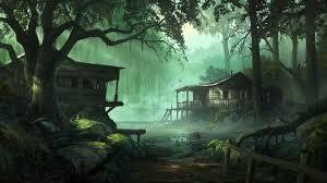 forest house high definition wallpaper for desktop