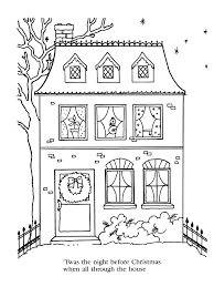 night before christmas coloring page free download