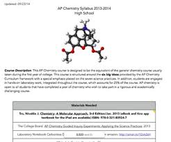 course syllabus template flipped classrooms for ap chemistry students
