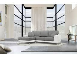 matière canapé canapé bi matière ub design 2 places angle gauche blanc gris