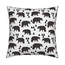 Kids Designs Geometric Bear White Trendy Minimal Cool Scandinavian Kids
