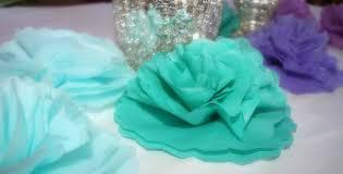 tissue paper centerpiece