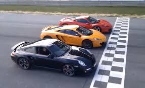 vs porsche 911 turbo mclaren mp4 12c vs 458 vs porsche 911 turbo drag