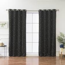 Grommet Curtains Best Home Fashion Inc Geometric Blackout Thermal Grommet Curtain