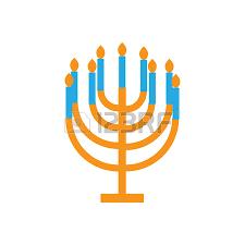 menorah candles holidays hanukkah flat icons with menorah candles royalty