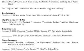 panduan penulisan daftar pustaka dari jurnal sumber artikel terbaru tentang karya tulis bahasa indonesia mohon