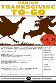 parish thanksgiving to go