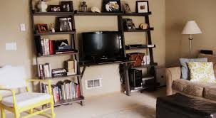 ana white leaning wall media center diy projects