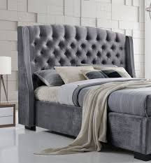 Double Bed Frame Design Brando Wing Back Chesterfield Double Bed Frame 4ft6 135cm Grey