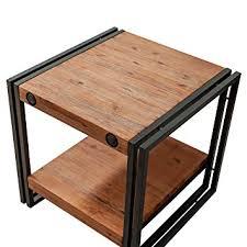 table bout de canapé table d appoint bout de canapé style industriel en bois d acacia