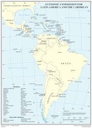 Central America And The Caribbean Map by Map Of States In Latin America Central America And The Caribbean
