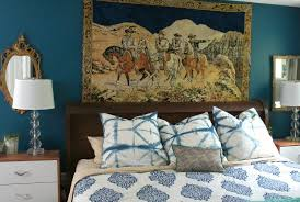 my new vintage cowboy tapestry semigloss design