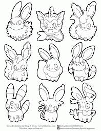pokemon coloring pages eevee evolutions eson me