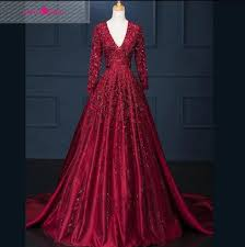 ballgown prom dress v neck a line long lace evening dress beaded
