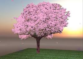 second marketplace pink blossom tree w petals wind chimes