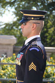 unknown soldier on guard at the tomb of the unknown soldier
