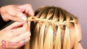 tutorial rambut waterfall waterfall braid tutorial become gorgeous youtube