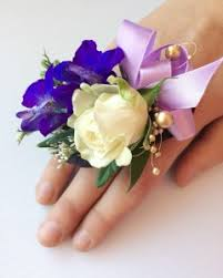 purple corsage 2 purple ring corsage prom corsage in fork ut 3c floral
