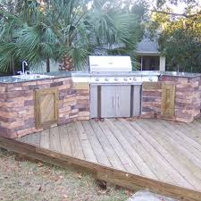 Backyard Wood Deck Outdoor Kitchen Design Ideas U2013 With A Multi Level Deck Archadeck