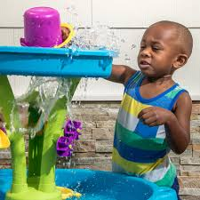 step 2 rain showers splash pond water table summer showers splash tower water table kids sand water play step2