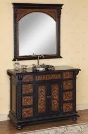 Antique Looking Vanities Inch Vessel Sink Vanity With Granite Top And Mirror