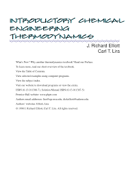 introductory chemical engineering thermodynamics pdf download