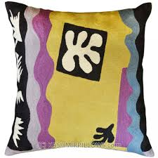 Contemporary Throw Pillows For Sofa by Matisse Cut Outs Modern Throw Pillows Flower Cushion Cover Yellow