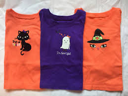 themed ls lot of 3 girl s orange purple themed l s shirts size 6