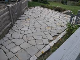 Irregular Stone Patio Dover Projects How To Build A Stone Patio