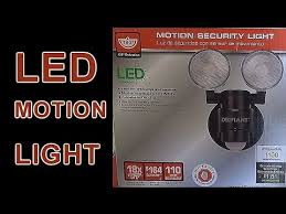 Defiant Security Light Led Motion Security Light Installation Youtube