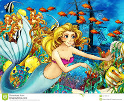 the ocean and the mermaids royalty free stock image image 34767016