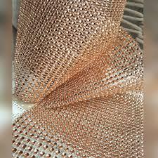 gold diamante effect mesh ribbon wedding bridal rhinestones