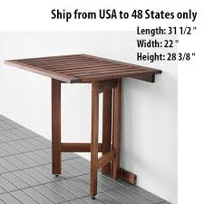 wall mounted patio table wooden folded folding desk wall mounted drop leaf portable outdoor