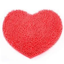 Red Bath Rug Online Get Cheap Heart Shape Bath Mats Aliexpress Com Alibaba Group