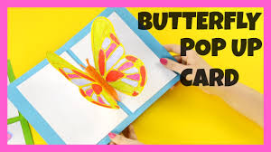 3d butterfly pop up card craft butterfly craft idea youtube