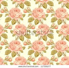 floral vintage seamless background shabby chic stock vector
